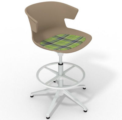 Elegante - With Feature Seat Pad Beige Green White