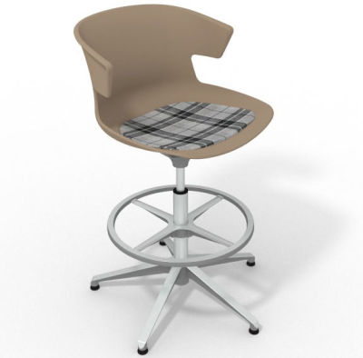 Elegante - With Feature Seat Pad Beige Grey Aluminium