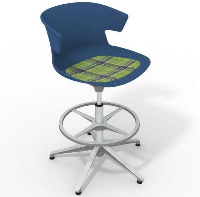 Elegante - With Feature Seat Pad Blue Green Aluminium