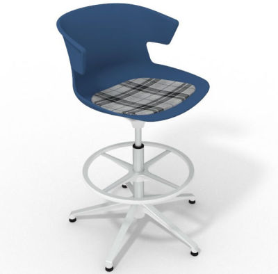Elegante - With Feature Seat Pad Blue Grey White