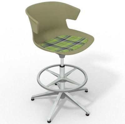 Elegante - With Feature Seat Pad Green Green Aluminium