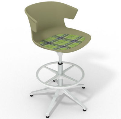 Elegante - With Feature Seat Pad Green Green White