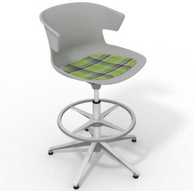 Elegante - With Feature Seat Pad Green Grey Aluminium