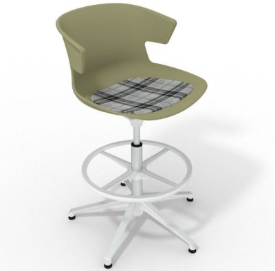 Elegante - With Feature Seat Pad Green Grey White