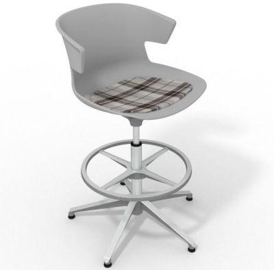 Elegante - With Feature Seat Pad Grey Brown Aluminium