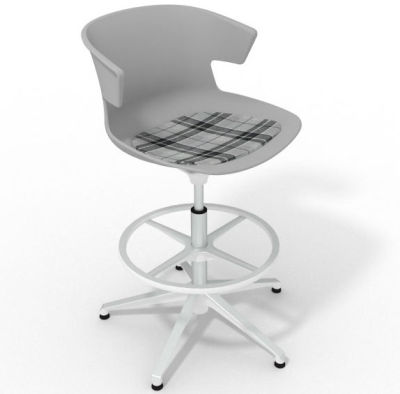 Elegante - With Feature Seat Pad Grey Grey White