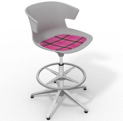 Elegante - With Feature Seat Pad Grey Pink Aluminium