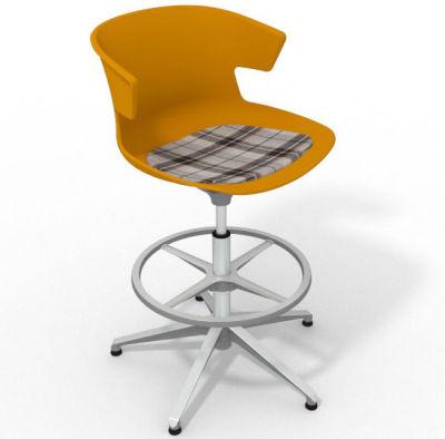 Elegante - With Feature Seat Pad Ochre Brown Alumimium
