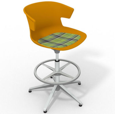 Elegante - With Feature Seat Pad Ochre Green Aluminium