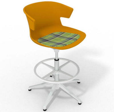 Elegante - With Feature Seat Pad Ochre Green White