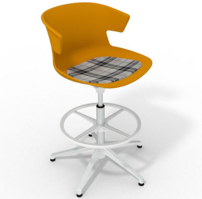 Elegante - With Feature Seat Pad Ochre Grey White