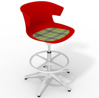 Elegante - With Feature Seat Pad Red Green White