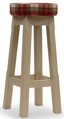 Modeno Button Top Bar Stool - Upholstered Seat Pad 1