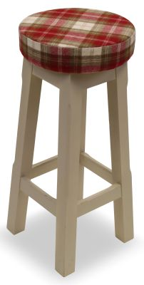 Modeno Button Top Bar Stool - Upholstered Seat Pad 2
