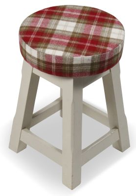 Modeno Button Top Low Stool - Upholstered Seat Pad 2