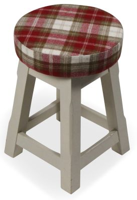 Modeno Button Top Low Stool - Upholstered Seat Pad 3