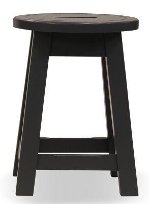 Modeno Paint Button Top Low Stool Grey Front View