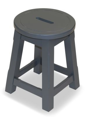 Modeno Paint Button Top Low Stool Grey Top View 1