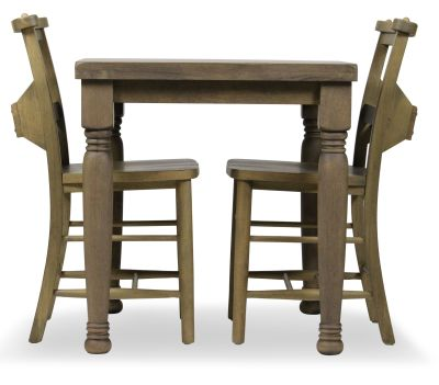 Church Dining Chair And Table Set 3 Side View Weathered Oak Chairs