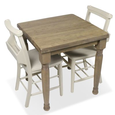 Church Dining Chair And Table Set 3 Top View Cream Chairs
