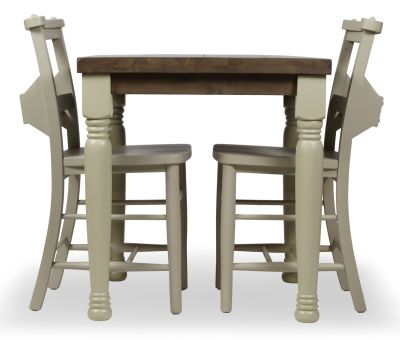 Church Dining Chair And Table Set 4 Side View Cream Chairs & Legs