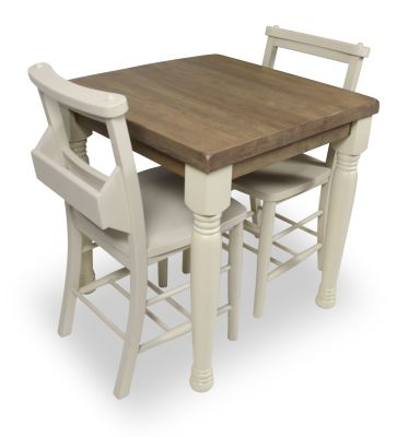 Church Dining Chair And Table Set 4 Top View Cream Chairs & Table Legs