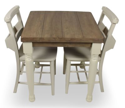 Church Dining Chair And Table Set 4 Top Side View Cream Chairs & Legs