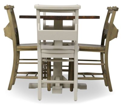 Church Chair And Table Set 6 Side View