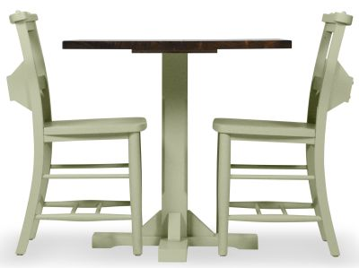 Church Dining Chair And Table Set 7 Green