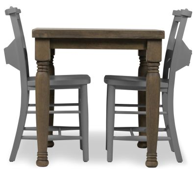 Church Dining Chair And Table Set 8 Grey
