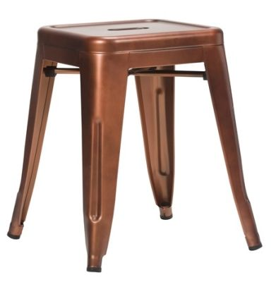 Tolix V2 Low Stool In Copper