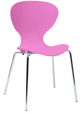 Piazza Poly Chair Pink Seat