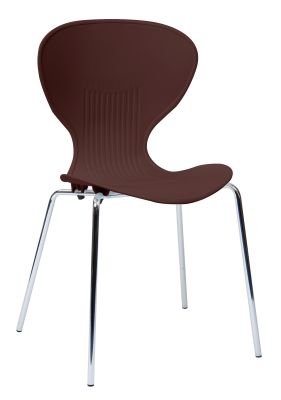 Piazza Poly Chair With A Mocha Seat