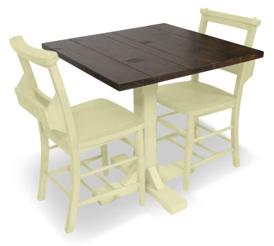 CHURCH DINING CHAIR AND TABLE SET 7 YELLOW