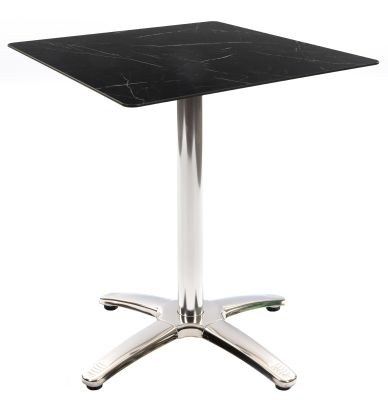 Trieste Table With A Bsquare Black Marble Hpl Top
