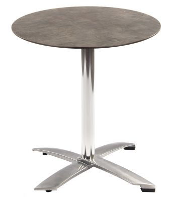 Kriss Kross Flip Top Table With A Round Concrete Hpl Laminate Top