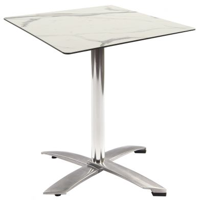 Kriss Kross Flip Top Table With A White Marble Square Hpl Top