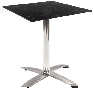 Kriss Kross Flip Top Table Wityh A Square Black Marble Top