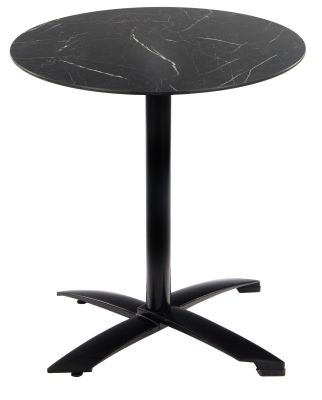 Kriss Krooos Table With A Black Base And Black Marble Hpl Top