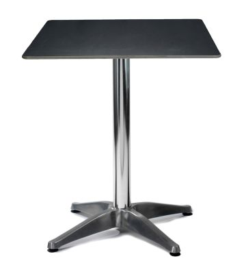 Lillie Hpl Table With A Black Square Top