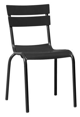 Mexa Aluminium Side Chair In Black