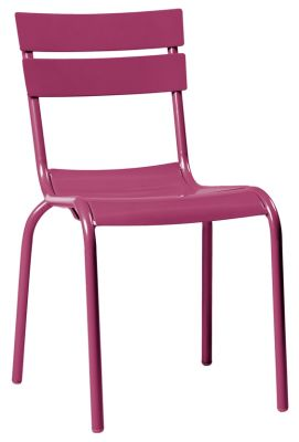 Mexa Aluminium Side Chair In Aubergine