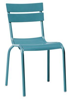 Mexa Aluminium Side Chair Lagoon Blue