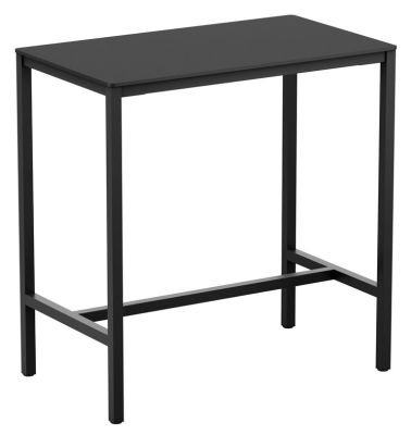 Mode Rectangul;ar Bar Height Table Witha Black HPL Top