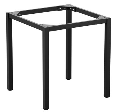 Modse Square Outdoor Dining Table Frame In Black