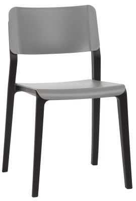 Marq Chair With A Mouse Grey Back And Seat And Black Frame Front Angle