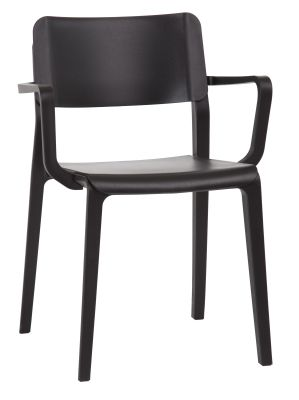 Marq Armchair Witha Black Seat And Back Angle View