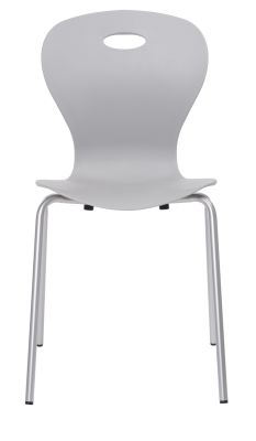 Solar Poly Chair In Grey Front View