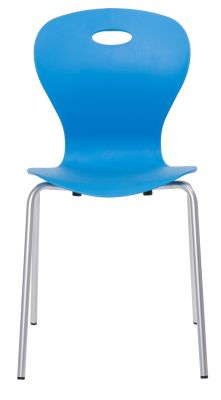 Solar Poly Chair In Sky Blue Front View