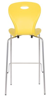 Solar High Stool In Sulphur Yellow Rear View